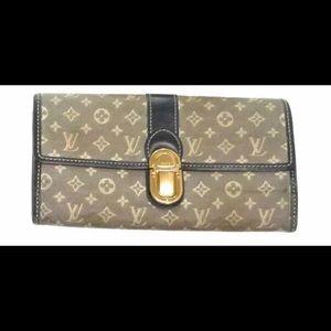 Louis Vuitton long padlock wallet authentic